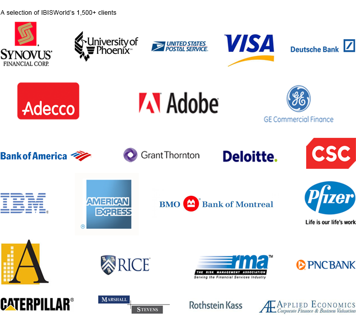 A selection of IBISWorld's clients